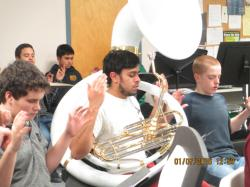 """CMS/CHS Band Members Participated in """"YOGA and MUSIC"""